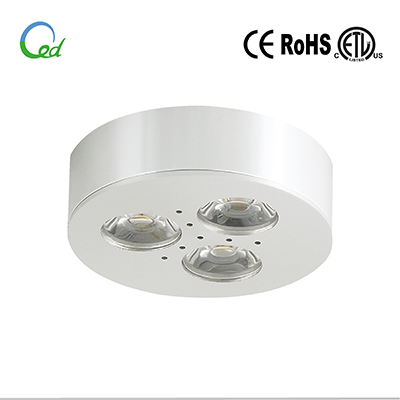 LED cabinet light, LED puck light, LED furniture light, 12V DC, 24V DC, 3W, surface mounted or recessed mounted