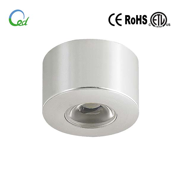 LED cabinet light, input 12V or 24V DC, 1W/2W, Ra>80
