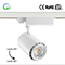 LED track light, 35W, 45W, COB LED, Ra80 or Ra90, 80lm/W, 20°~60° beam angle adjustable by turning the lens